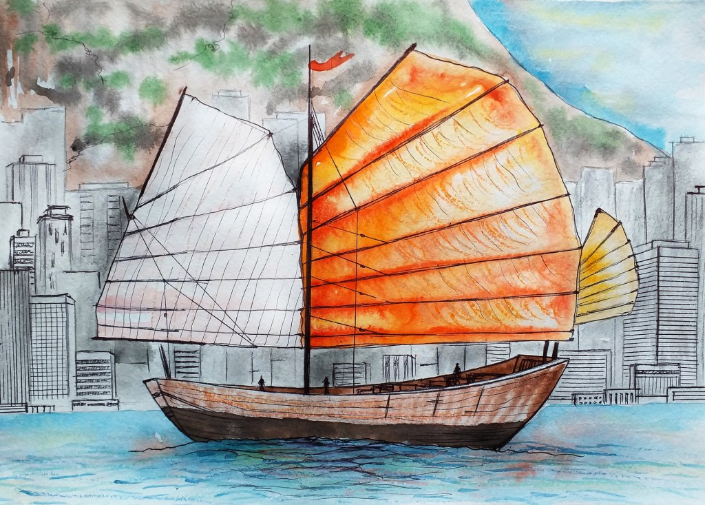 Painting: Chinese ship