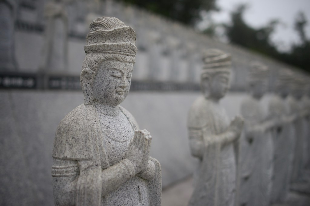 Photo: Japanese Guanyin (Kannon) sculptures