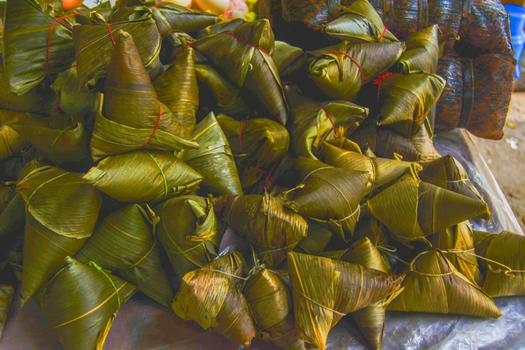 Photo: Rice dumplings prepared for the Dragon Boat Festival