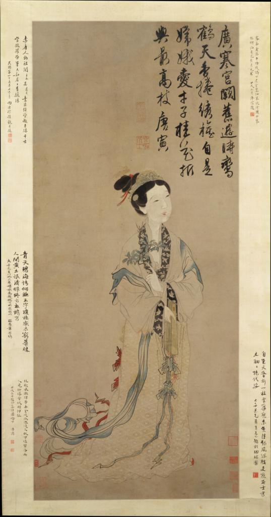 Ming-era Chinese painting: The Moon Goddess