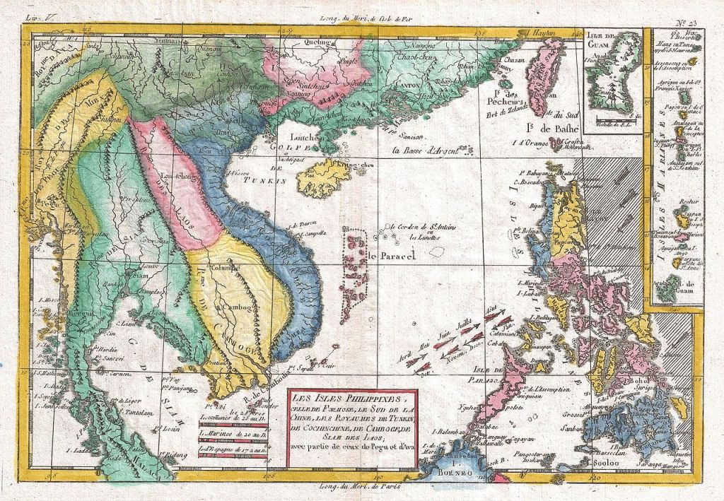 1780 French map of Southeast Asia