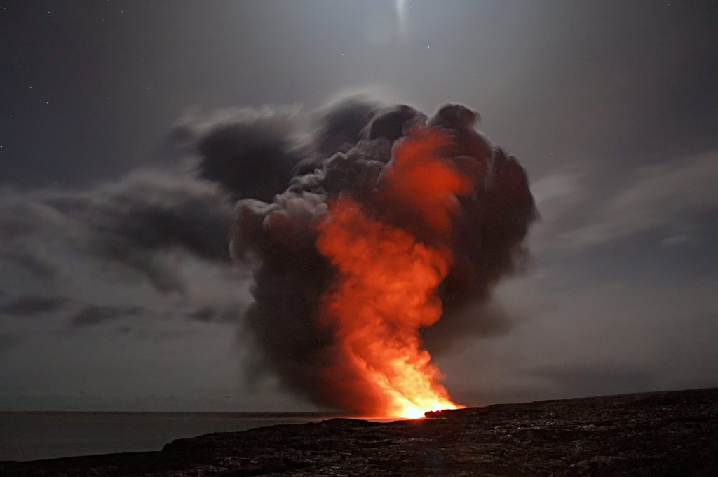 Picture of volcanic activity