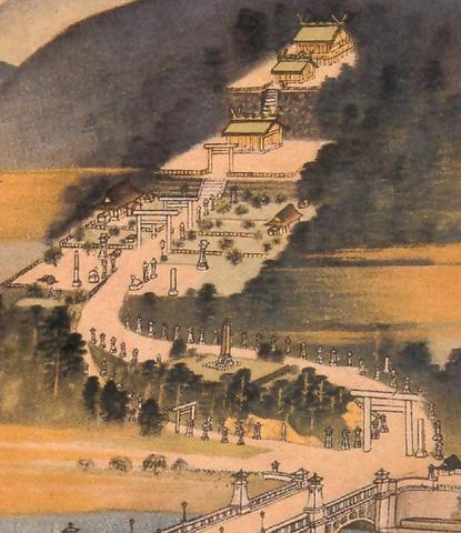Painting of the Grand Shrine of Taiwan