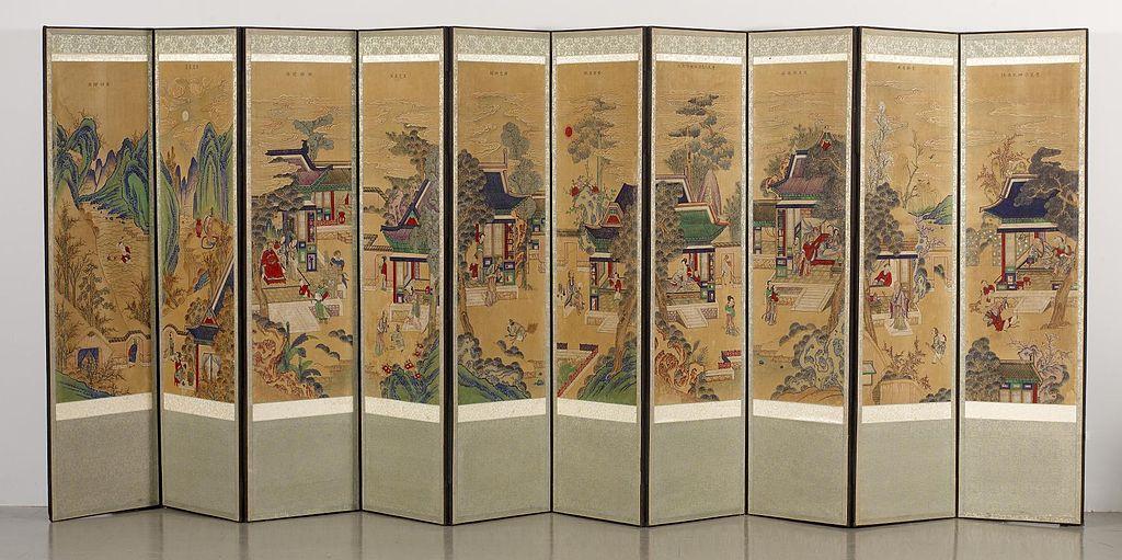 Image: Korean 10-panel folding screen