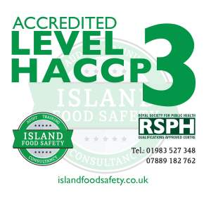 Level 3 Award in Understanding How to Develop a HACCP Plan course Newport Isle of Wight 24 March 2020