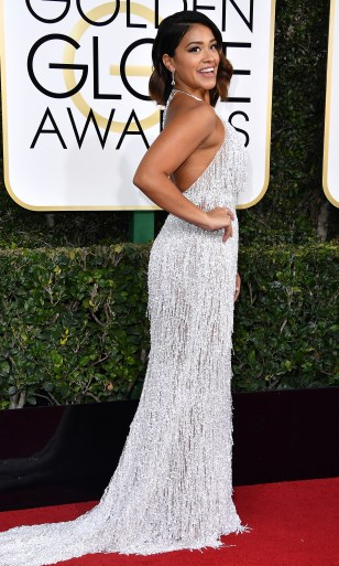 BEVERLY HILLS, CA - JANUARY 08: Actress Gina Rodriguez attends the 74th Annual Golden Globe Awards at The Beverly Hilton Hotel on January 8, 2017 in Beverly Hills, California. (Photo by Steve Granitz/WireImage)
