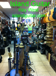 Island Guitar & Ukulele Music Store in Key West & Dallas celebrates Valentine's Day Sales