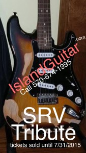 SRV Stevie Ray Vaughan Fender Strat Guitar replica Nicky Sorbelli Cancer Fundraiser