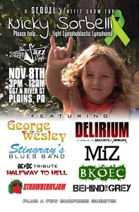Nicky Sorbelli Cancer Killer Benefit Concert NEPA Wilkes-Barre Scranton