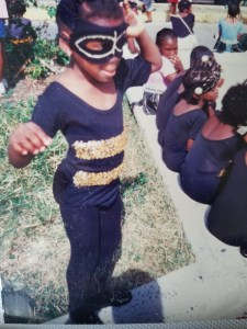 Me as a bumblebee - Carnival parade