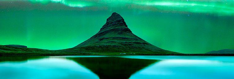 Luces del Norte. Auroras boreales en Islandia en Septiembre