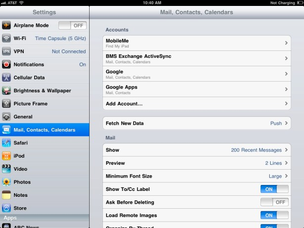 How to sync your iPad Mail, Calendar, & Contacts with Google Sync Google Sync 7