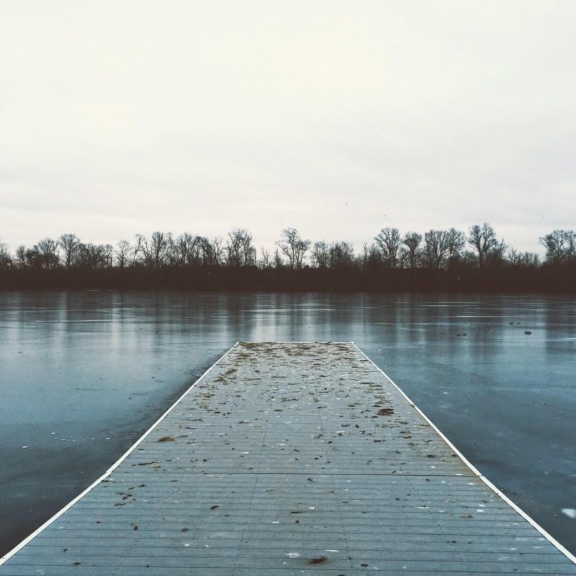 Carnegie Lake, Winter, Frozen