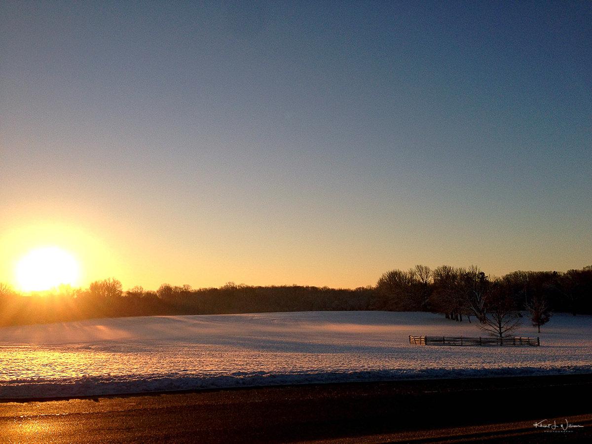 Princeton, Battlefield Park, Sunrise, Winter