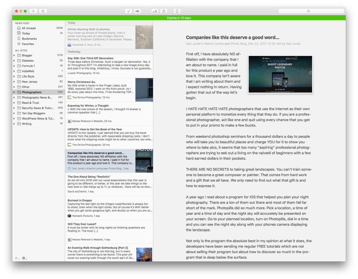 NetNewsWIre, macOS