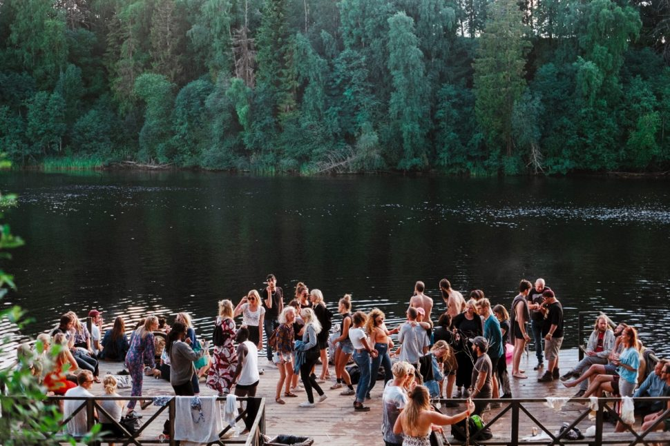 Social, Lake, Sweden, Gagnef, People