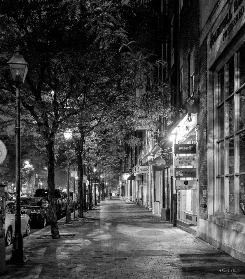 Old City at Night Empty X100F 20180623