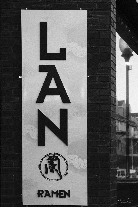 Store Facade, LAN Ramen, Hullfish Street, Princeton