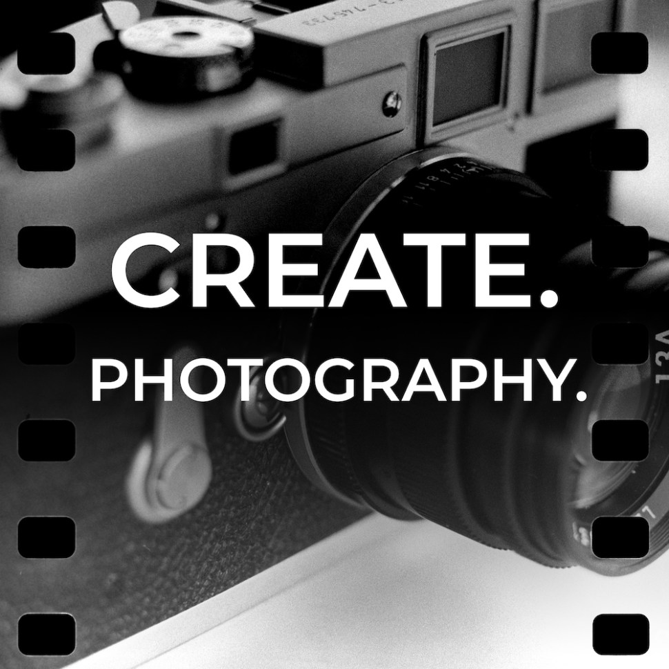 logo for CREATE.PHOTOGRAPHY podcast