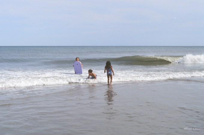 Surfboarders on Avalon Beach