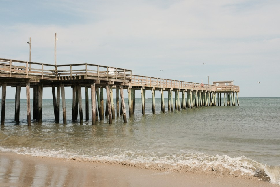 Dock Beach Scene