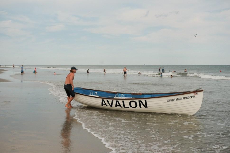 Life Boat Beach Scene