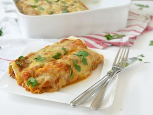 Black Bean & Pumpkin Enchiladas