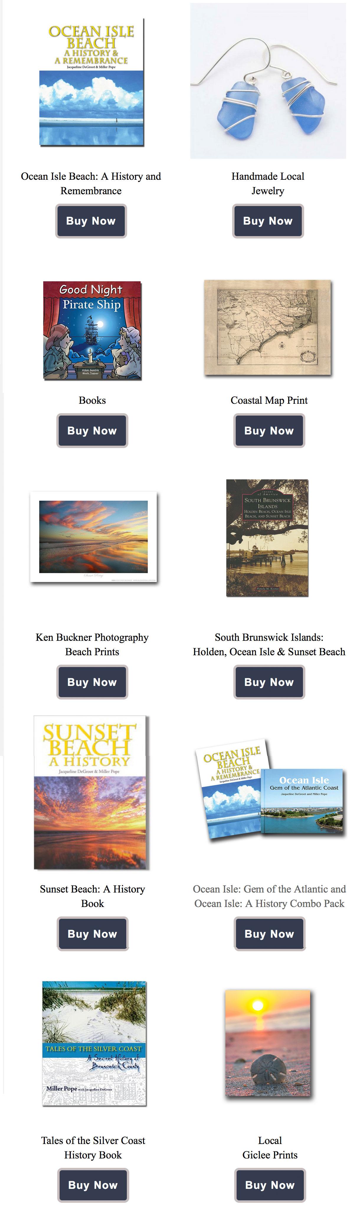 ISLANDS-ART local art, books and jewlery from the artists of Coastal Carolina
