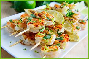 Lime Shrimp Kabobs