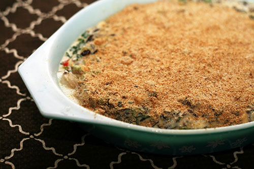 Recipe for oyster casserole