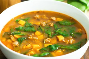 Sweet Potato & Spinach Soup
