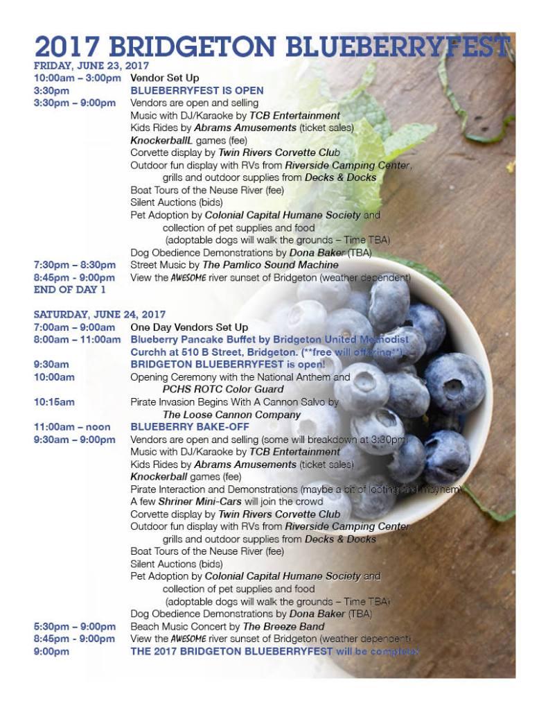 Blueberryfest schedule