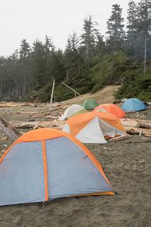 Many tents Make Me Happy on Tapaltos Beach