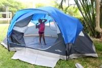 Tent In Backyard   Outdoor Goods