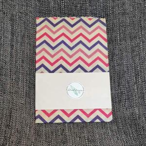 Island made Beeswax wraps in zig zag pattern