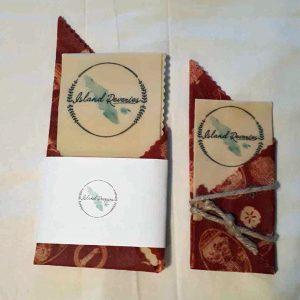 Personalized Beeswax Wrap party favours made by Island Reveries on Vancouver Island