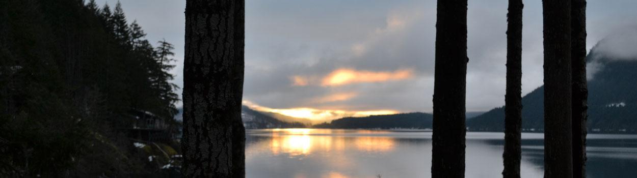 image of Sproat Lake at Sunset