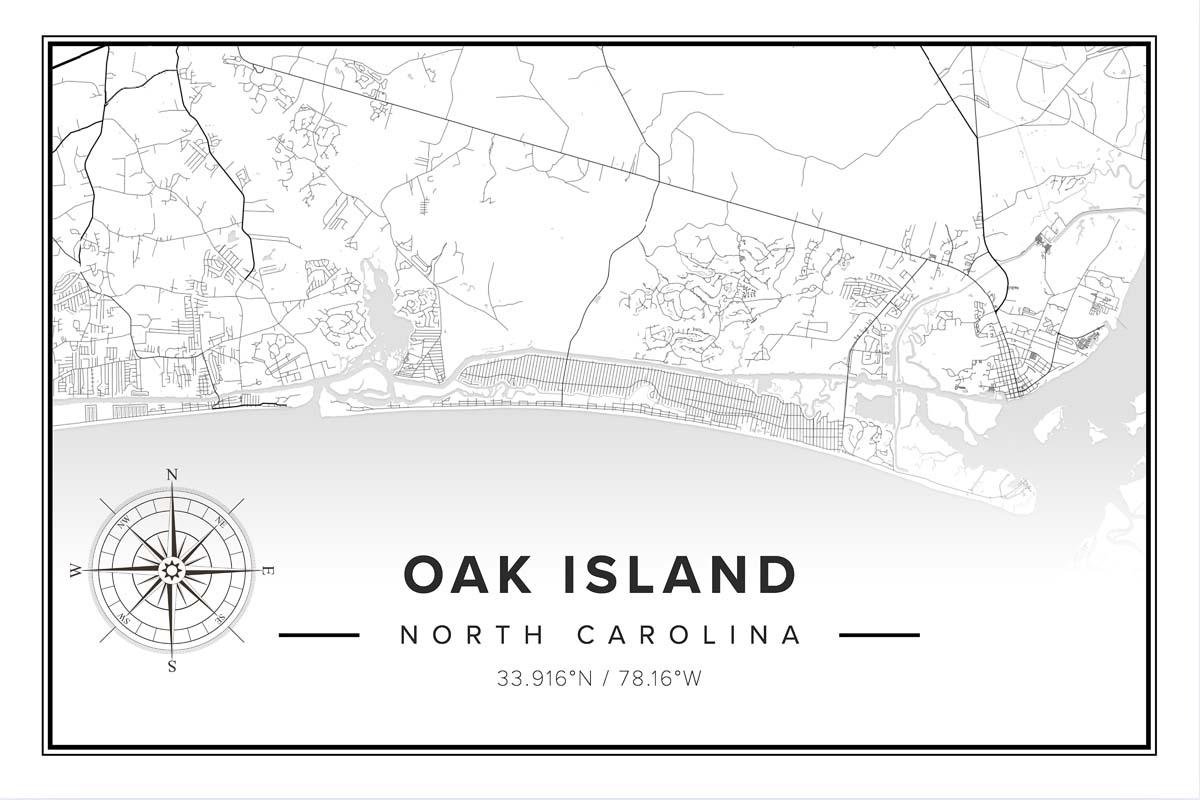 Oak Island Map