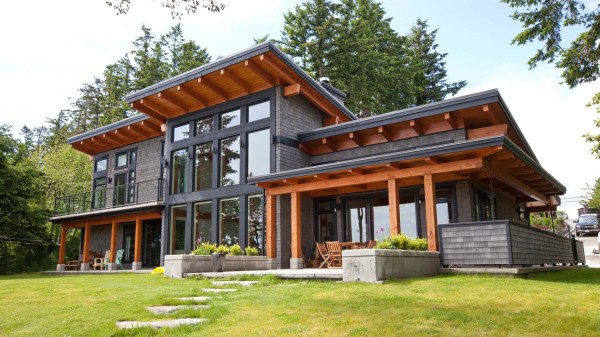 Modern Beachfront Timber Frame Island