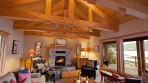 Seaside Timber Frame Renovation Island
