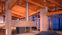 Elma Bay - Signature Blue Sky Architecture Curved Glulam Beams