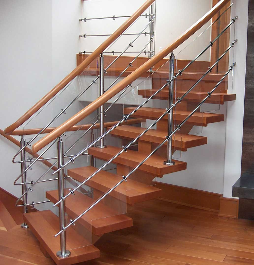 Custom Timber Stairs And Railings Island Timber Frame   Steel And Timber Stairs   90 Degree External   Architectural   Modern   Contemporary   House