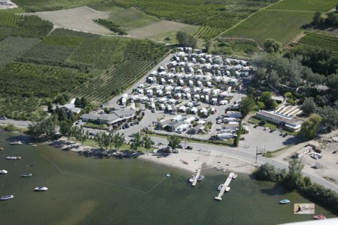Osoyoos RV Park Aerial Photo Island View RV Resort