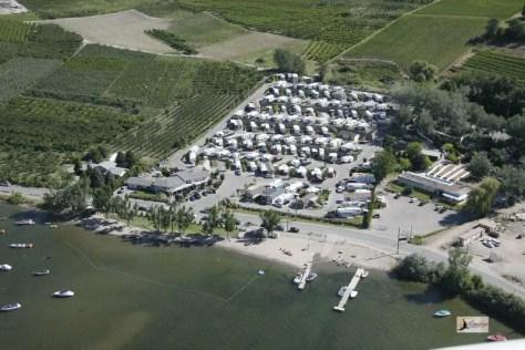 Osoyoos RV Park Aerial Photo Island View RV Resort