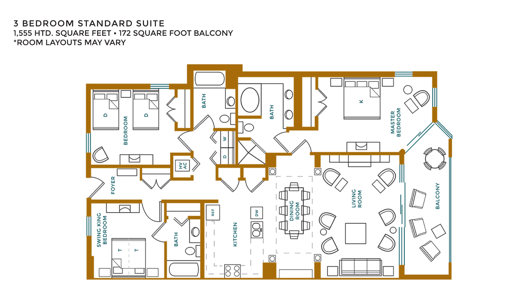 3 Bedroom Suites at Island Vista Resort Myrtle Beach