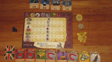 Mars Needs Mechanics set up and ready to play.