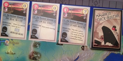 Selection of action cards in the deck-building version.