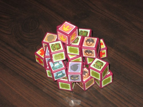 The full assortment of cubes available from which to build your army.
