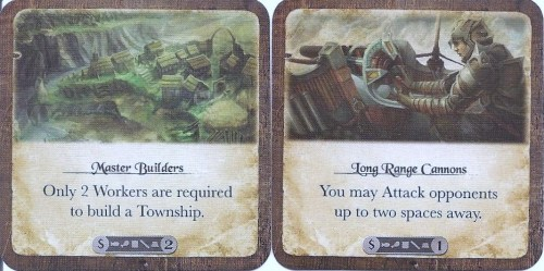 Development cards provide fun and helpful boosts - or cash them in for a resource.