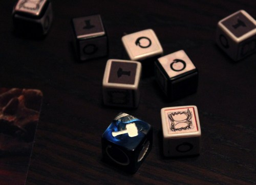 Dice! The blue one is the closest to final